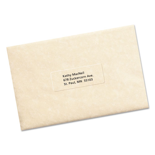 Avery 5630 clear easy peel mailing labels laser 1 x 2 5 for Avery 5630 template