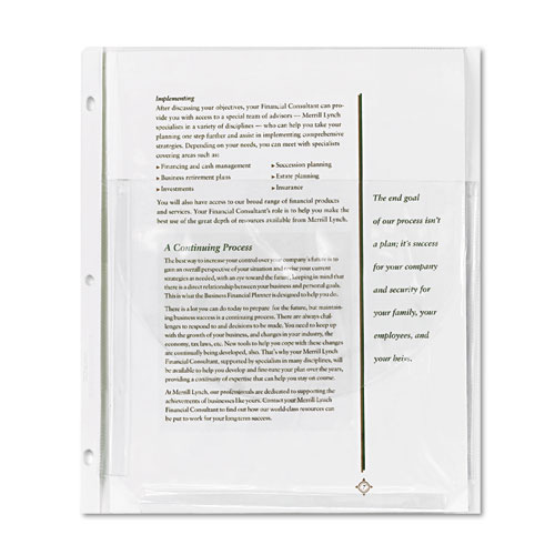 Super capacity sheet protector with tuck in flap letter for Letter size sheet protectors