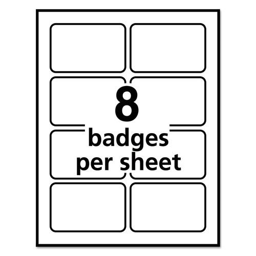 Avery 5895 Flexible Self Adhesive LaserInkjet Name Badge