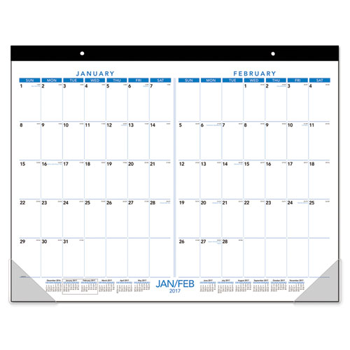Superwarehouse Two Months Per Page Desk Pad 21 3 4 X 17