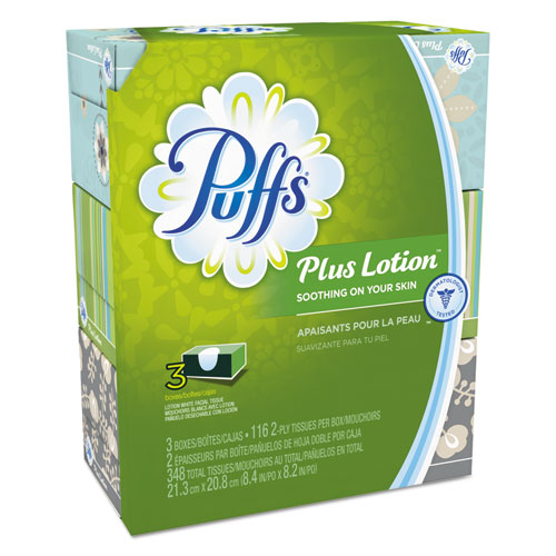 Puffs Plus Lotion Facial Tissue, 2 ply, 116/box