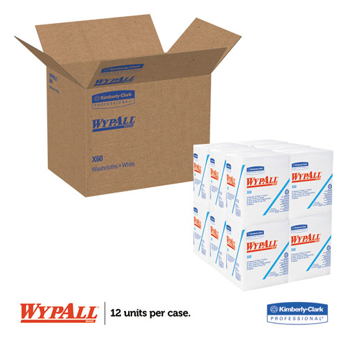 WYPALL X60 Wipers 1 4 Fold 12 1 2 x 13 White 76 Box 12 Boxes Carton