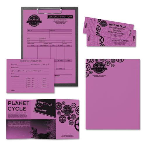 Color Paper 24lb 8 1 2 X 11 Outrageous Orchid 500 Sheets Boss