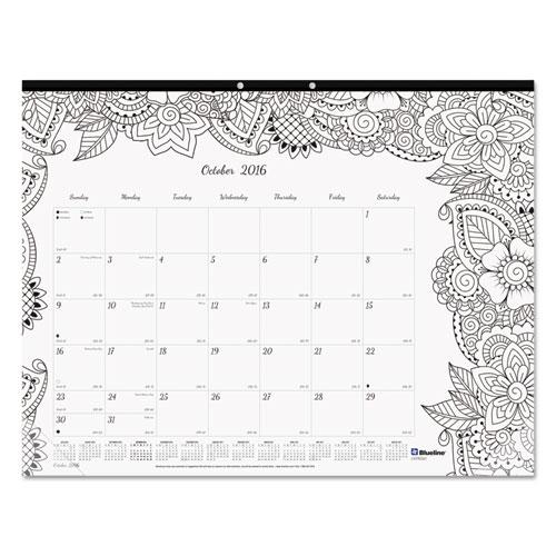 Academic Doodleplan Desk Pad Calendar W Coloring Pages 22
