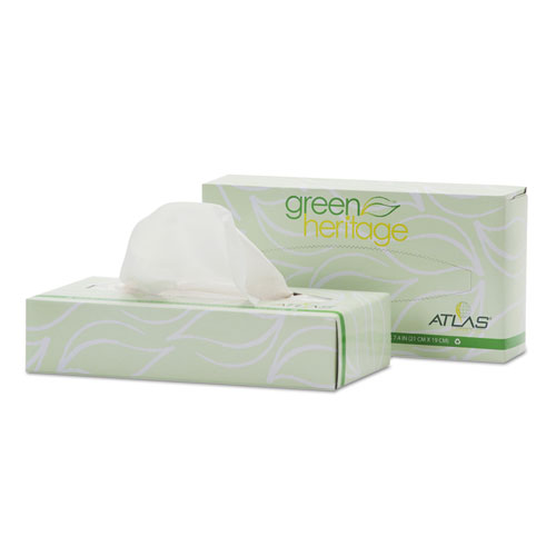 Green Heritage Professional Facial Tissue, 2 Ply,7 2/5 X 8