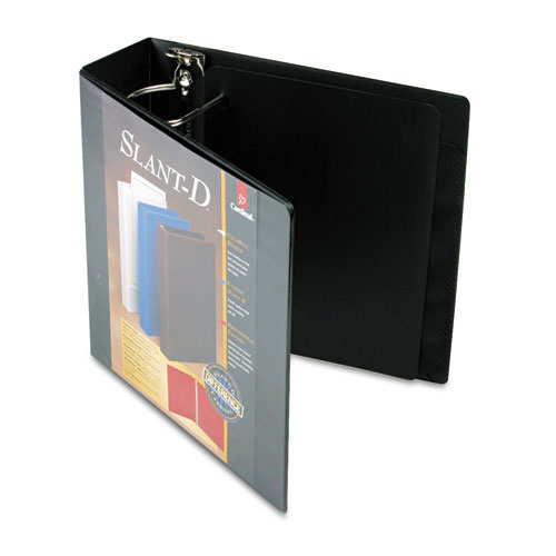 "Cardinal Supplies SuperStrength ClearVue Locking Slant-D Ring Binder, 3"", Black at Sears.com"