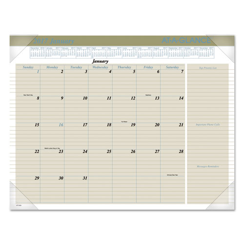 Weekly Calendar Desk Pad : Executive monthly desk pad calendar buff