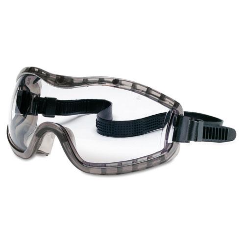 Crews CRW2310AF Stryker Safety Goggles, Chemical Protection, Black Frame