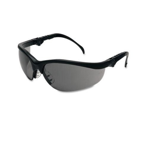 Black Frame Safety Glasses : Klondike Plus Safety Glasses, Black Frame, Gray Lens ...