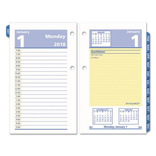 Planner Calendar Refills : Quicknotes desk calendar refill