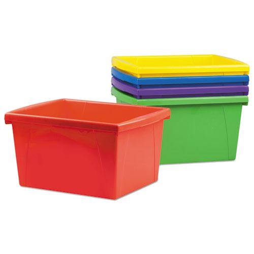 Superieur Storage Bins, 10 X 12 5/8 X 7 3/4, 4 Gallon, Assorted Color, Plastic