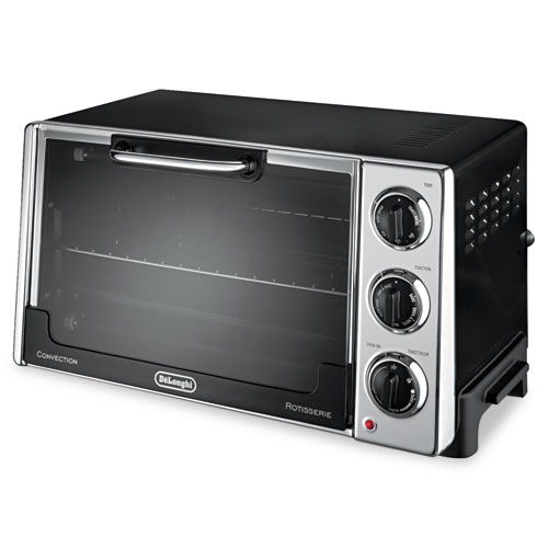 DLORO2058 Delonghi Convection Oven W/Rotisserie, 12.5L, .5 Cu. Ft, Black photo