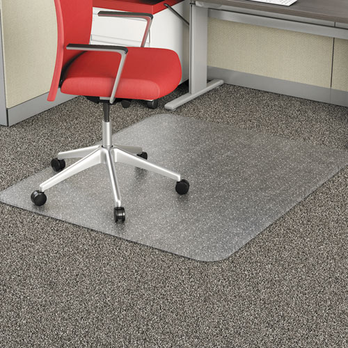 occasional use studded chair mat for flat pile carpet 46 x 60