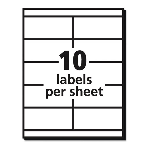 Ave5352 Avery Copier Shipping Labels 2 X 4 14 White