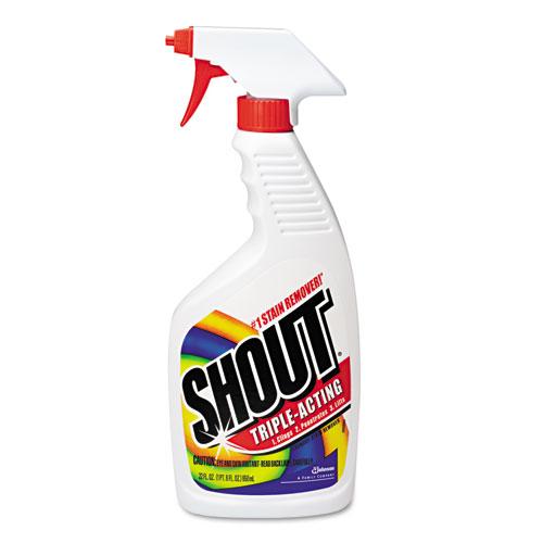 Shout DVOCB022514CT Laundry Stain Remover, 22Oz Spray Bottle, 12/Carton