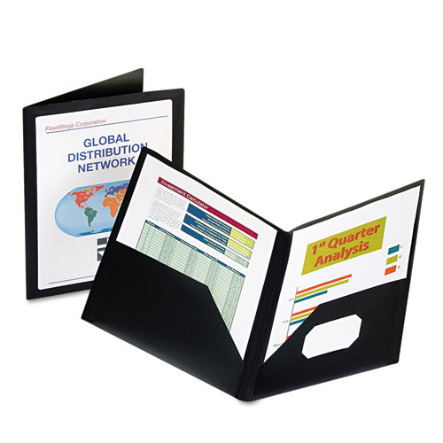 Oxford ViewFolio Polypropylene Portfolio, 50-Sheet Capacity, Black/Clear at Sears.com