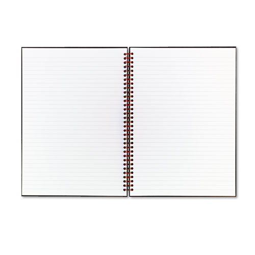 JDKK67030 Black N' Red Twinwire Hardcover Notebook, Legal Rule, 8-1/2 X 11, White, 70 Sheets