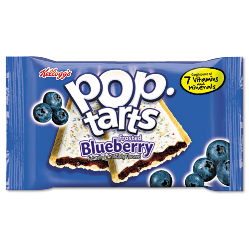 Pop Tarts, Frosted Blueberry, 2/Pack, 6 Packs/Box KEB31032