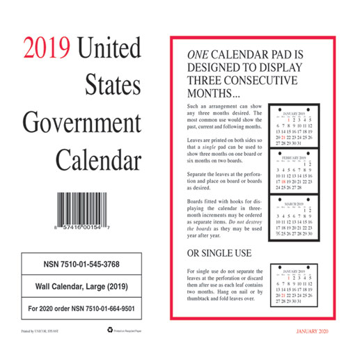 7510015453768 monthly wall calendar 9 x 11 2019 10pack ucr5453768