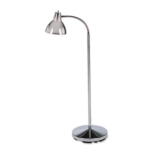 "Medline Industries, INC. Classic Incandescent Exam Lamp, Three Prong, 74""h, Gooseneck, Stainless Steel"