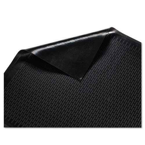 how to clean black rubber mats