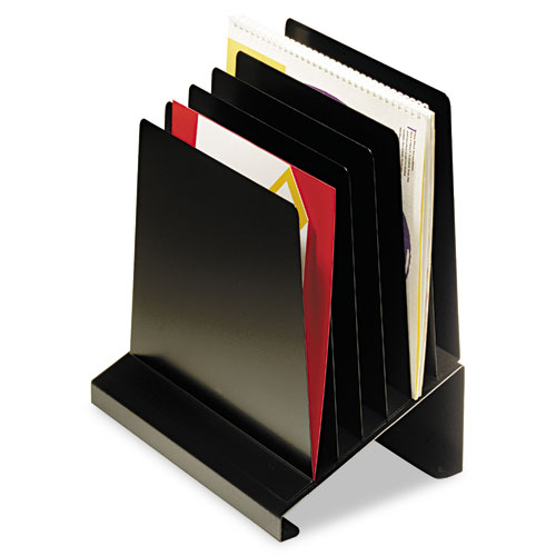 MMF POS Slanted Vertical Organizer, Six Sections, Steel, 11 x 7 1/4 x 11 1/2, Black - 264R806BK at Sears.com