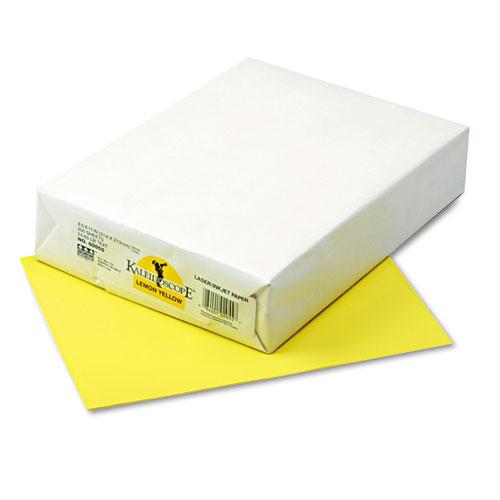 Pacon Kaleidoscope Multipurpose Colored Paper, 24lb, 8-1/2 x 11, Lemon Yello