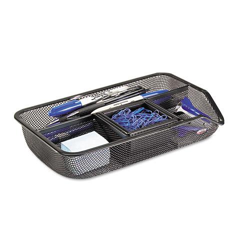 rolodex drawer organizer metal mesh black rol22121