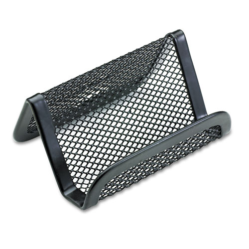 Mesh business card holder capacity 50 2 1 4 x 4 cards for Mesh business card holder