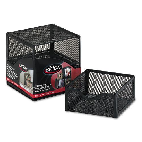 Organization Two Drawer Cube, Wire Mesh, Storage, 6 X 6 X 6