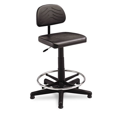 SAF5110 Safco Taskmaster Series Economahogany Workbench Chair, Black