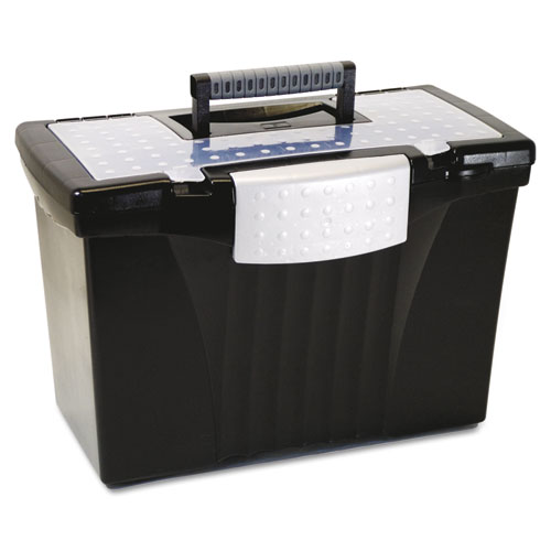 portable file storage box w organizer lid letter legal With portable document storage