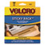 VEK90083 - Sticky-Back Hook and Loop Fastener Tape with Dispenser, 3/4 x 15 ft. Roll, Beige