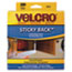 VEK90140 - Sticky-Back Hook and Loop Dot Fasteners, Dispenser, 3/4 Inch, Beige, 200/Roll