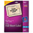 AVE18665 - Easy Peel Mailing Labels for Inkjet Printers, 8-1/2 x 11, Clear, 10/Pack