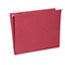 NSN3649500 - Hanging File Folder, Letter Size, 1/5 Cut Top Tabs, Red, 25/Box, GSA 7530013649500