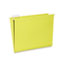 NSN3649501 - Hanging File Folder, Letter Size, 1/5 Cut Top Tabs, Yellow, 25/Box, GSA 7530013649501