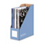 FEL6110101 - Decorative Magazine File, 4 x 9 x 11 1/2, Cornflower Blue, 6 per PACK