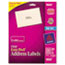 AVE18660 - Easy Peel Inkjet Mailing Labels, 1 x 2-5/8, Clear, 300/Pack