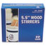 "RPPR810 - Wood Stir Sticks, 5-1/2"" Long, Woodgrain, 1000 Stirrers/Box"