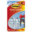 MMM17092CLR - Clear Hooks and Strips, Plastic, Small, 2 Hooks with 4 Adhesive Strips per Pack