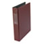 "UNV33416 - Suede Finish Vinyl Round Ring Binder With Label Holder, 1-1/2"" Capacity, Maroon"