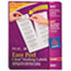AVE5662 - Easy Peel Laser Mailing Labels, 1-1/3 x 4, Clear, 700/Box