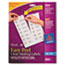 AVE8662 - Easy Peel Inkjet Mailing Labels, 1-1/3 x 4, Clear, 350/Pack