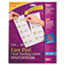AVE8663 - Easy Peel Inkjet Mailing Labels, 2 x 4, Clear, 250/Pack