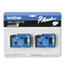 BRTTC22 - TC Tape Cartridges for P-Touch Labelers, 1/2w, Blue on White, 2/Pack