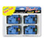BRTTC50 - TC Tape Cartridges for P-Touch, 1/2w, Black on Red/Blue/Yellow/Green, 4/Pack