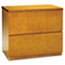 MLNLF23620M - Luminary Series Wood Veneer 2-Drawer Lateral File, 34-3/4w x 20d x 29h, Maple