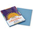 PAC7603 - Construction Paper, 58 lbs., 9 x 12, Sky Blue, 50 Sheets/Pack