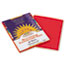 PAC9903 - Construction Paper, 58 lbs., 9 x 12, Holiday Red, 50 Sheets/Pack